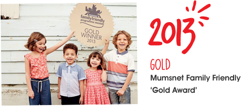 2013, Mumsnet family friendly gold award